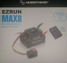 HOBBYWING EZRUN 150A MAX8 WITH LED PROGRAM CARD W/P 1/8TH GENUINE PRODUCT SEALED
