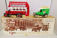 CORGI TRANSPORT OF THE 30'S - THE TIMES THORNYCROFT BUS & FORD MODEL T VAN