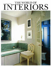 September World of Interiors Architecture Magazines