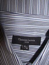 CHRISTIAN LACROIX Homme Blue Striped Cotton Mens Shirt SZ M/M
