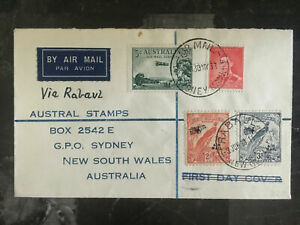 1938 Rabaul Papua New Guinea First Flight Cover to Australia FFC