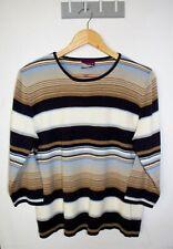 Suzannegrae Vintage Sweater Size XL Multicoloured Striped Jumper
