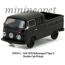 GREENLIGHT 27910 C BLACK BANDIT 1976 VW VOLKSWAGEN TYPE 2 DOUBLE CAB PICKUP 1/64
