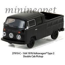GREENLIGHT 27910 C BLACK BANDIT 1976 VW VOLKSWAGEN TYPE 2 DOUBLE CAB PICKUP 1/64