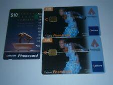 3x $10 TELSTRA PHONECARDS SYDNEY DANCE COMPANY 2x BANGARRA THEATER LOT-FREE POST