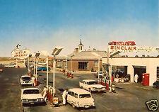 5x7 SINCLAIR COVEY GAS SERVICE STATION PUMPS ISLAND OLDS NASH DODGE COCA-COLA