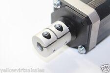"3/8"" x 1/2"" Rigid Shaft Ballscrew Coupler CNC Mill Router Stepper Servo DC Motor"