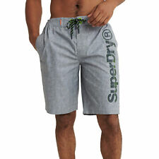 Superdry Classic Simple Shorts Boardshorts - Silver Grey Grit All Sizes