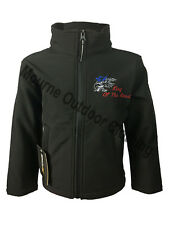 Kids Childrens Boys Scania V8 Regatta Full Zip Soft Shell Jacket Coat