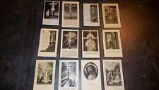 12 Anciennes Images pieuses 'mortuaire', faire part décès, Missel, Religion.