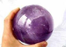 AAA++Natural Amethyst Quartz Crystal Sphere Ball Healing Stone 70MM