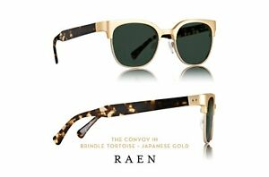 Raen Convoy authentic unisex USA handmade sunglasses UVA/UVB gold + tortoise