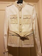 RACHEL ZOE @ ASOS TOPSHOP todos Crema de cuero de lona chaqueta de safari militar Santos