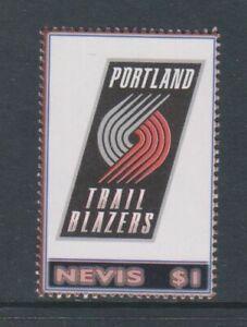 Nevis - 2005, $1 Portland Trial Blazers, NBA, Basketball Tampon - MNH