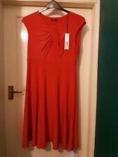 Roman originals 14 Stretch Skater Burnt Orange Dress Bnwt