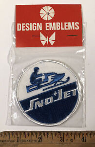 Vintage 1970s Sno Jet Snowmobile Patch Design Emblem New In Package Winter Sport
