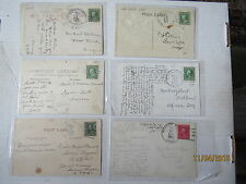 Lot Of (6) POSTCARDs ~ Discontinued Oregon Post Office Cancels ~ 1906 - 1927