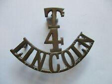 More details for lincolnshire regiment 4th.territorial battalion shoulder title.
