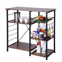Vintag 3-Tier Microwave Oven Cart Bakers Rack Kitchen Storage Shelve Stand Metal