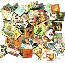 Lot of 98 Inchies Handmade Inchie Mixed Media Embellishments Card Making Paper