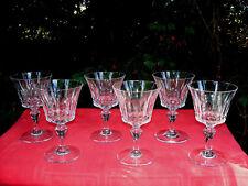BACCARAT PICCADILLY 6 WINE CRYSTAL GLASS GLASSES 6 VERRES A VIN CRISTAL TAILLÉ Z