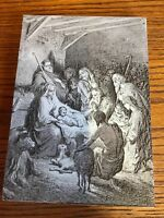 Annibale Carracci Style Etched Wood Of Birth Of Jesus