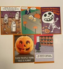 RECYCLED PAPER GREETINGS 5 LOT HUMOROUS HALLOWEEN CARDS BY PAPYRUS $18.85 VALUE