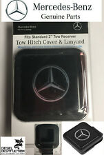 "OEM Mercedes-Benz 2"" Tow Hitch Receiver Plug Cover & Lanyard  Part # Q6310005"