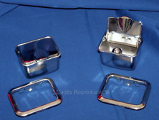 1948 - 1964  Cadillac Rear Ashtray Pair / Ashtrays & Bezels Set