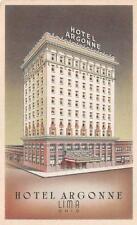 LIMA, OH  Ohio     HOTEL ARGONNE    c1920's Postcard