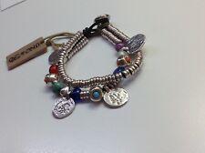 """Uno de 50 Silver-Plated Bracelet/Colorful Beads/Coins 7"""" """"Mismatch"""" $109"""
