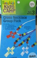 Busy Kids Beaded Necklace Kit-Cross-New-makes 18 necklaces-ages 3+