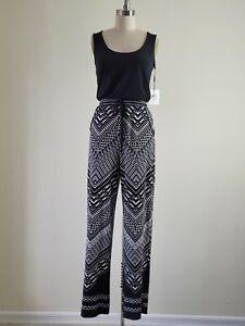 NEW Calvin Klein Black & White Stretchy Jumpsuit size 2