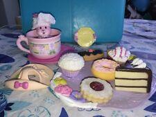 Kidsview Tea Bunnies Fancy Dessert Tea Party SWEET AZALEA Bunny Doll Figure LOT