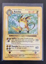 1999 Pokemon Base Set #14/102 Shadowless Holo Raichu