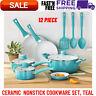 12 Piece Cookware Set Pots Pans Dutch Oven Kitchen Cooking Ware Nonstick Ceramic