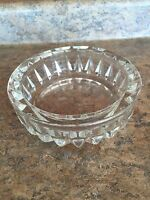 Vintage heavy cut CLEAR glass candy nut relish jam condiments dish simple design
