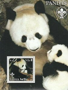 Eritrea 2002 Sheet Pandas MNH