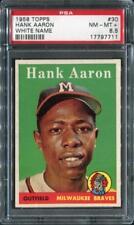 1958 TOPPS #30 HANK AARON BRAVES PSA 8.5    17797711