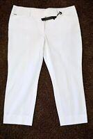 NWT White House Black Market Premium Bi-Stretch Crop Pants, White, Choose a Size