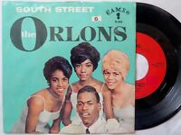 """The Orlons SOUTH STREET / THEM TERRIBLE BOOTS 1963 45rpm 7"""" picture sleeve"""