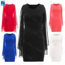 Polyester 3/4 Sleeve Wiggle, Pencil Dresses for Women
