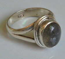 Sterling Silver Traditional Asian Vintage Style Labradorite Ring Size N Gift