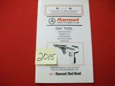 RAMSET / RED HEAD FASTENING D60 TOOL SAFETY & OPERATING INSTRUCTION MANUAL