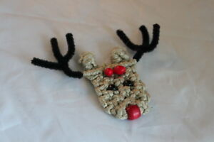 Rudolph Reindeer Holiday Rope Ornament