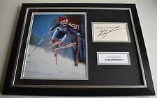 Franz Klammer SIGNED FRAMED Photo Autograph 16x12 display Olympic Skier PROOF