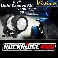 """Vision X 6.7"""" LED Light Cannon Kit PAIR 10 Degree 50 w Spot Beam w/ Wire Harness"""