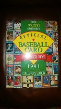 Vintage Official Baseball Card Price Guide 1991 Collector Edition Hardcover Book
