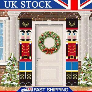 Nutcracker Soldier Door Banner Merry Christmas Xmas Santa Decor Home Ornament