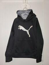 Puma Black Sparkle Hoodie Sweatshirt Sz Youth Medium 8/10
